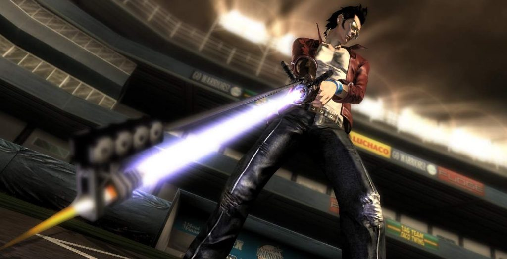 The main protagonist 'Travis Touchdown' as seen in NMH 1