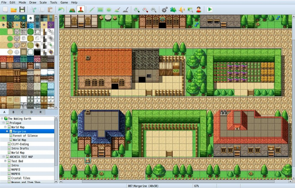 RPG Maker MV has great world building features