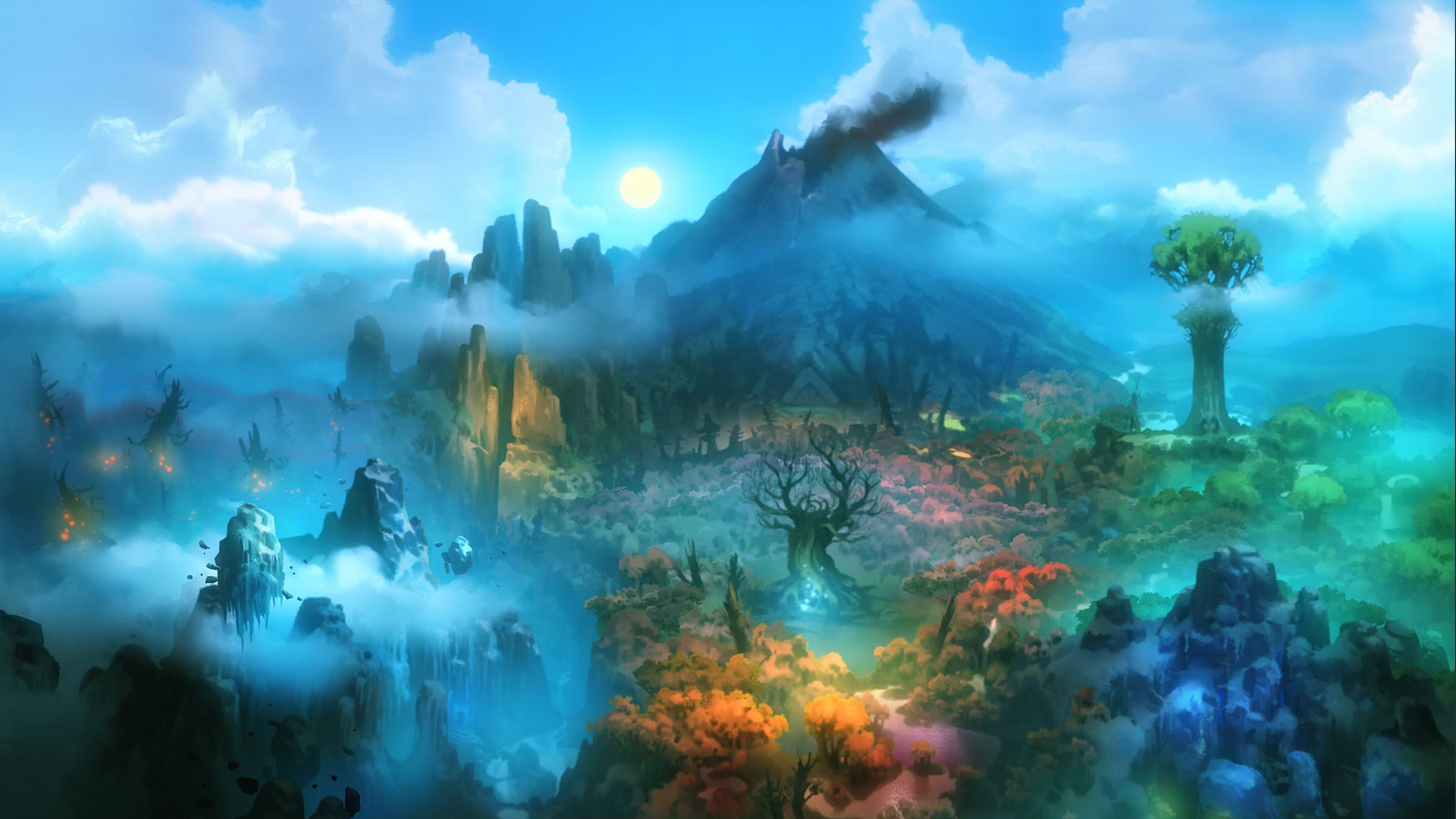 ori and blind forest indie game art design