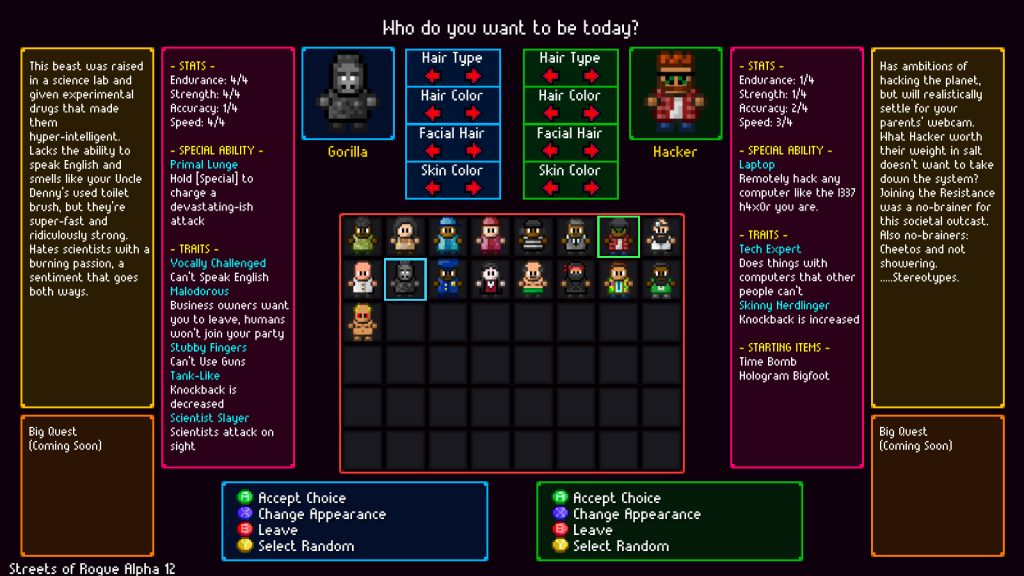 streets of rogue, roguelike, gameplay