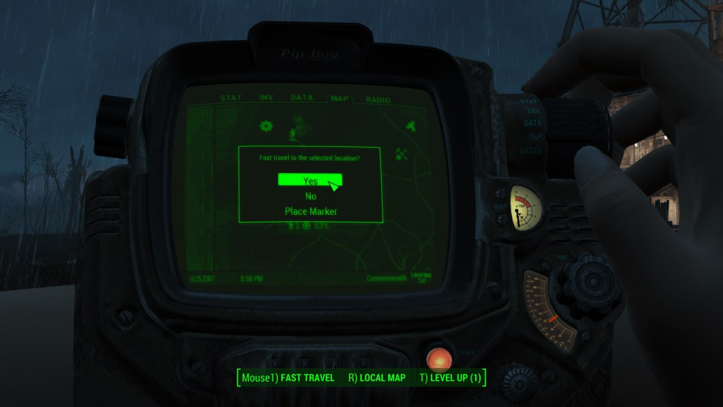 Fast Travel as seen in Fallout 4