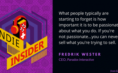 Indie Insider #48 – Fredrik Wester, CEO of Paradox Interactive