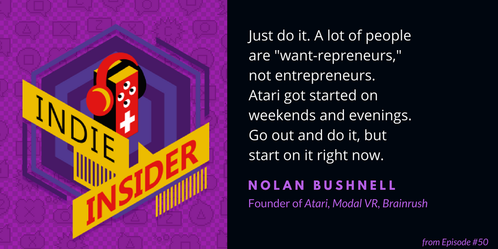 Indie Insider #50 – Nolan Bushnell, Founder of Atari (and a Giveaway!)