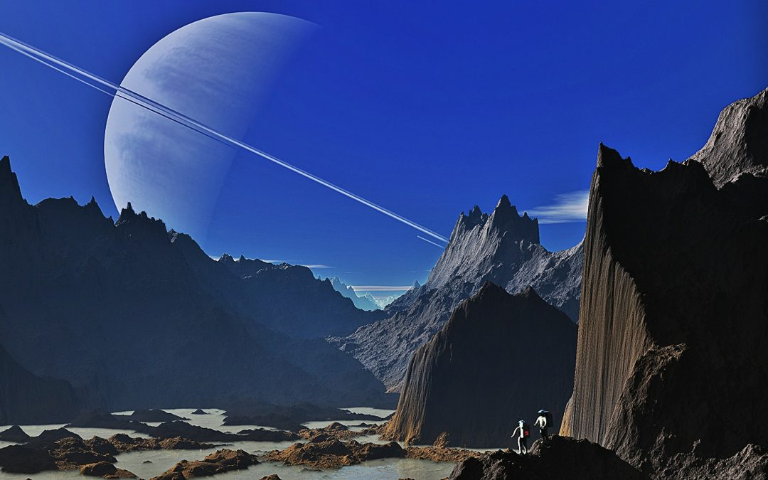 Intergalactic landscape ripe for exploration.